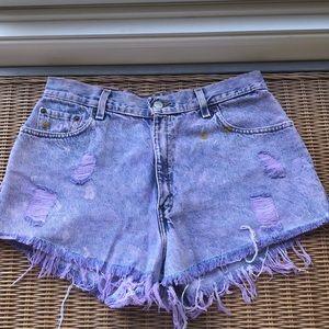 Levi highwaisted cutoff Jean shorts
